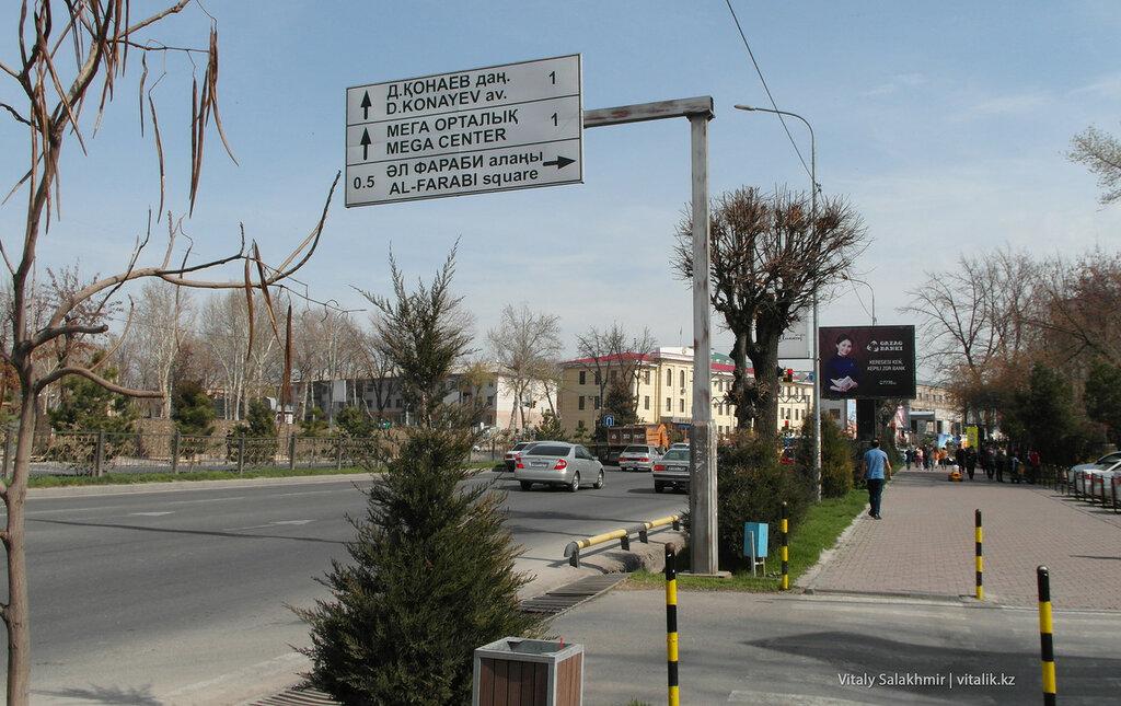 Уличный указатель Шымкент 2018