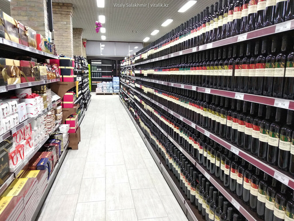 Вино в магазине Виноград на Гоголя, Алматы