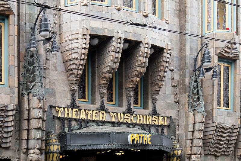 facade of Tuschinski Theater, Amsterdam, Netherlands