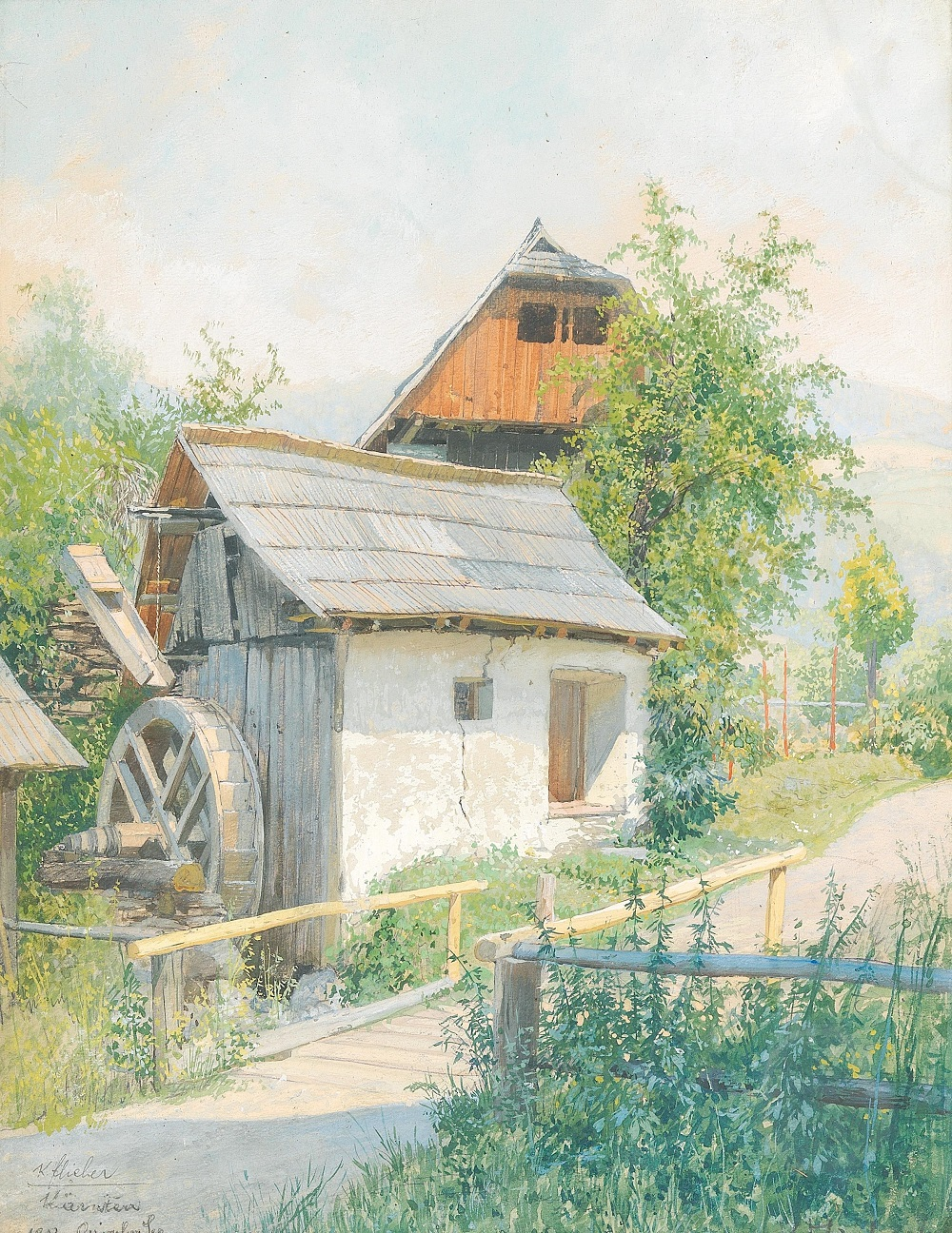 A mill at Ossiacher See , 1912.
