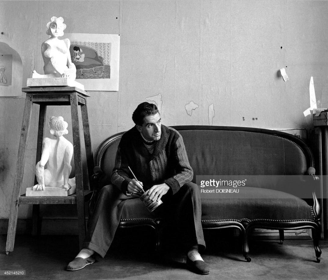 1945. Французский художник Андре Фужерон