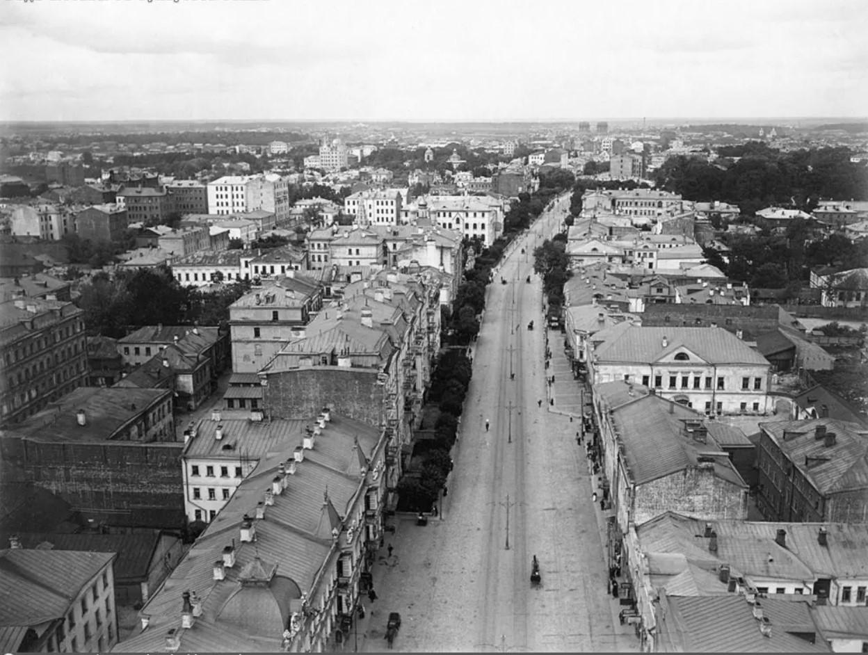 1-я Мещанская с Сухаревой башни. 1914