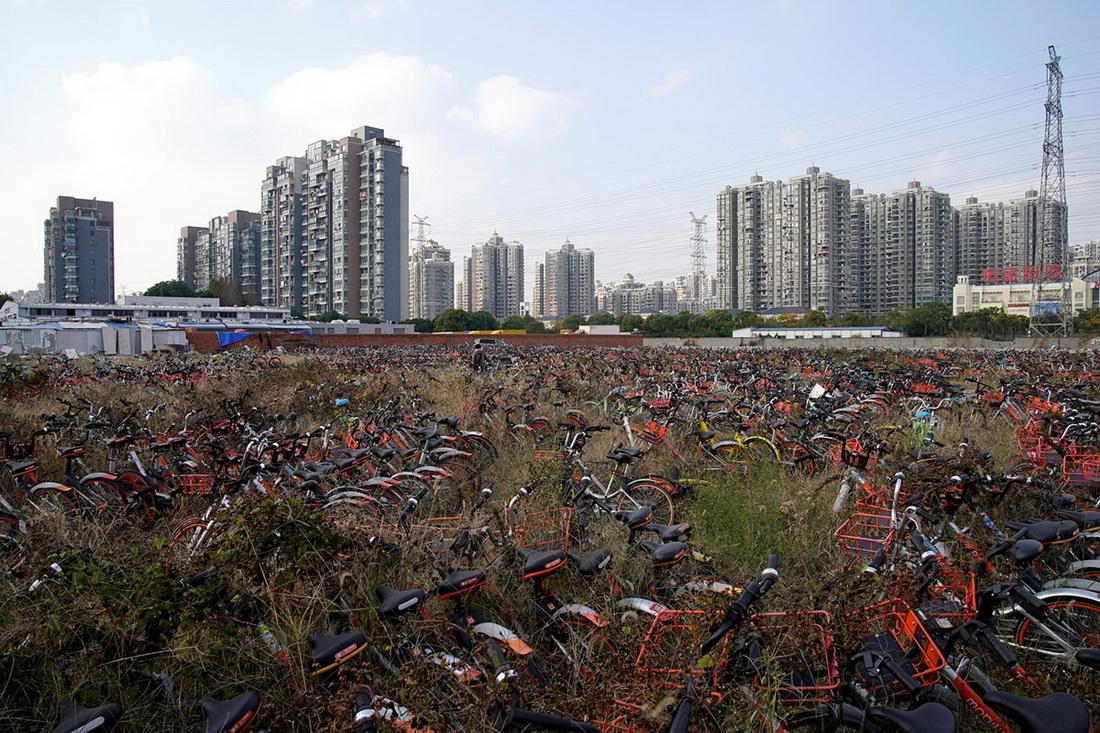 Обратная сторона велопроката в Китае
