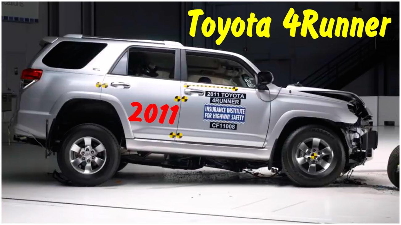 Фронтальный краш тест 2011 Toyota 4Runner