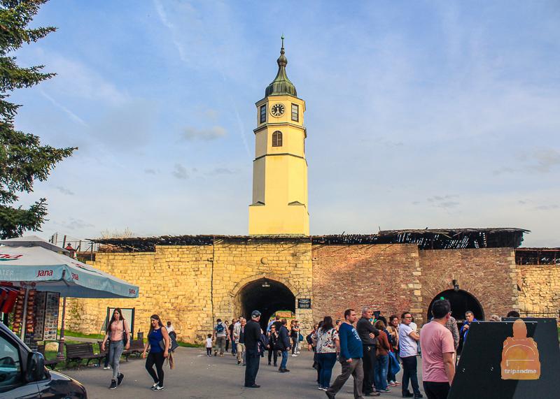 Часовая башня в Белградской крепости