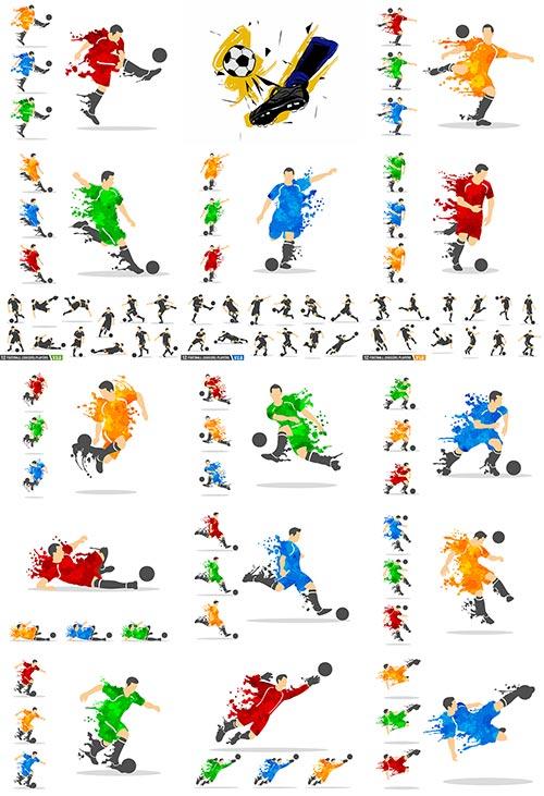 Футболист в векторе / Soccer player in vector