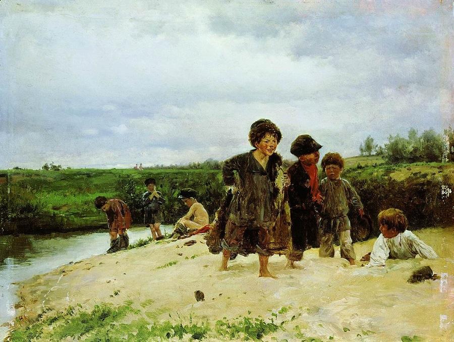 От дождя. 1887 Ульяновский областной художественный музей.