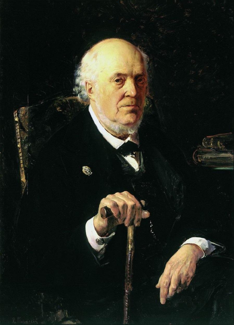 Портрет Е.И.Маковского. 1880 Государственная Третьяковская галерея, Москва.