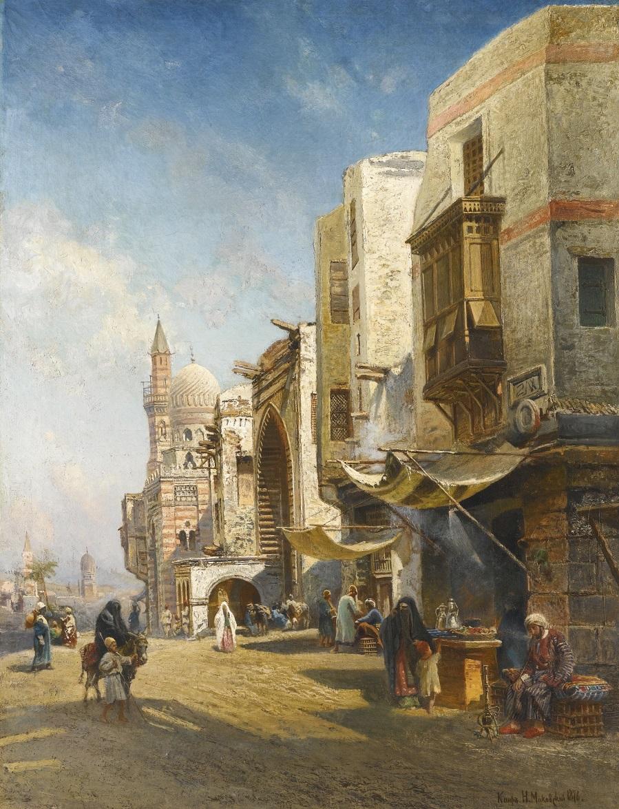 STREET IN CAIRO, 1876.