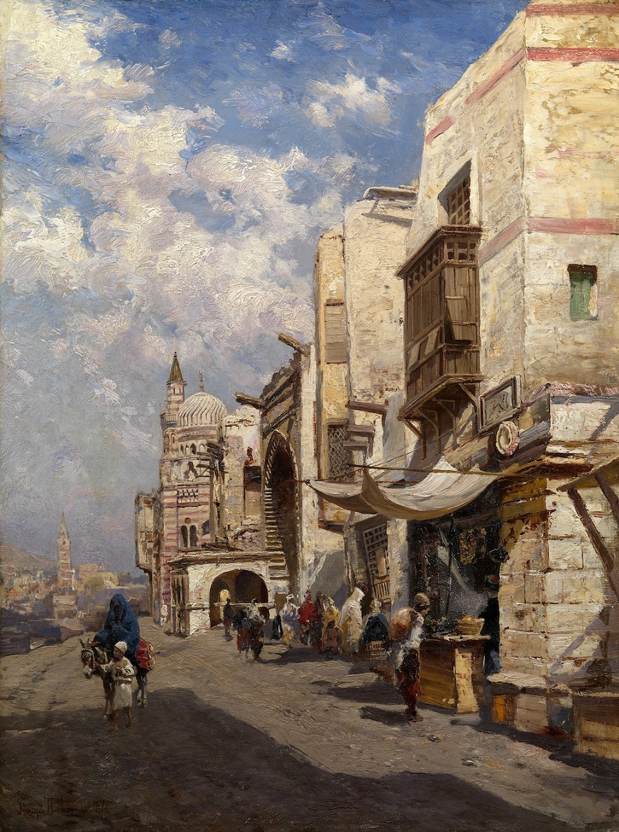 Street in Cairo , 1877.