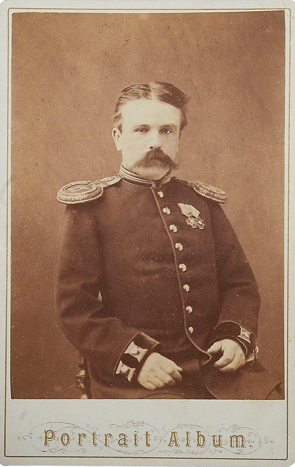 Фото капитана 1-го Конно-горного артиллерийского парка.  1870-е