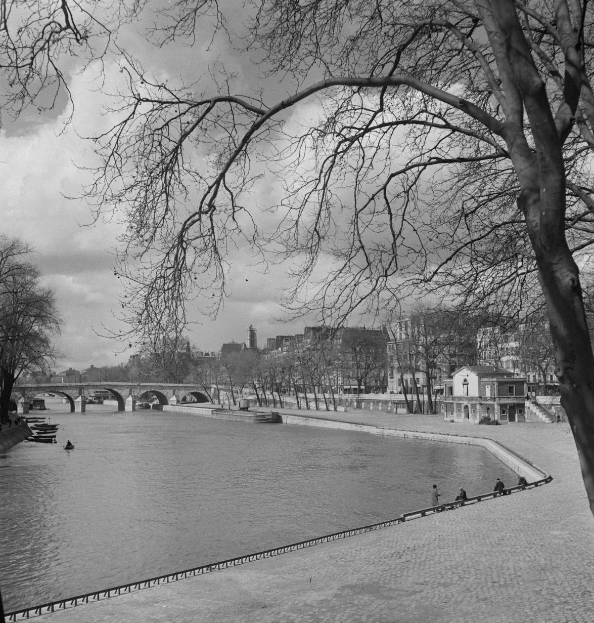 Река Сена, напротив Нотр-Дам
