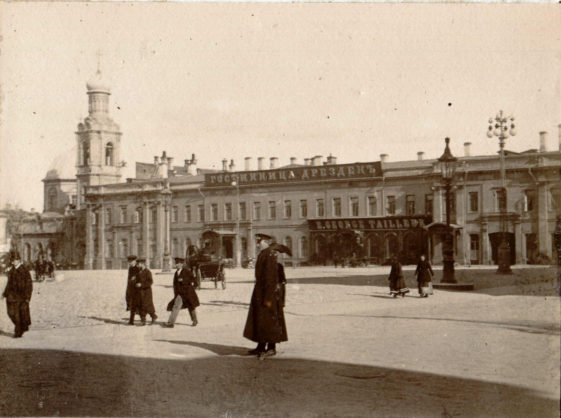 Тверская. Гостиница Дрезден