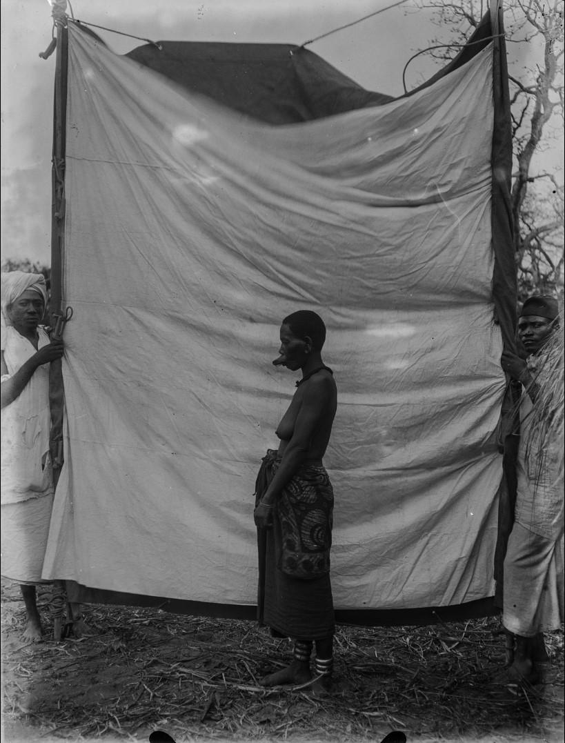 61. Антропометрическое изображение женщины из маконде