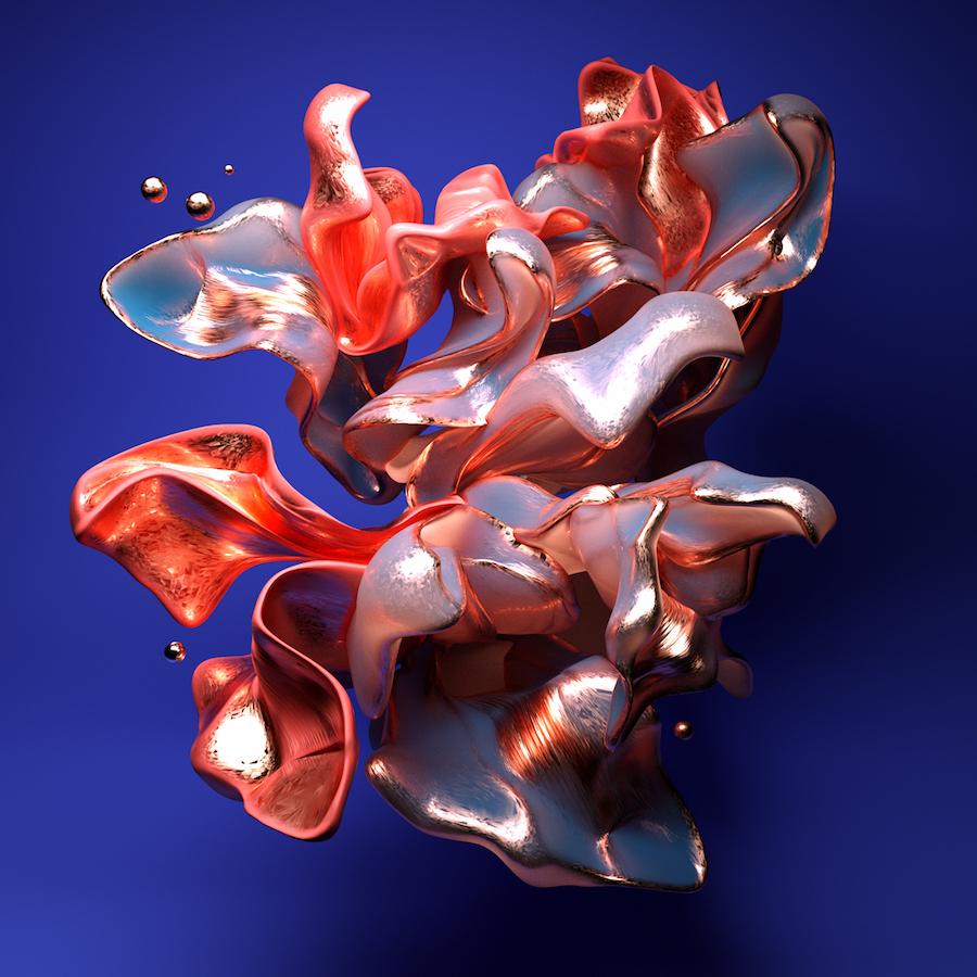 digital art 3d Form colors Digital Rendering color Style