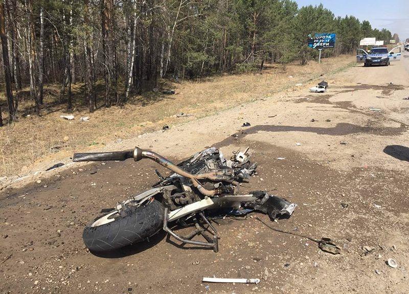 Фатальная мото авария под Иркутском (26 апреля)