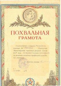1948 За успешное освоение профессией