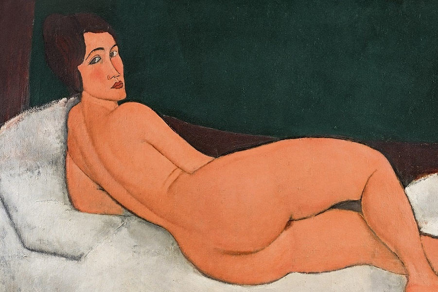 "The picture that angered contemporaries, breaks the auction of dollars, millions, Modigliani, more Modigliani ""when, really, couché"""