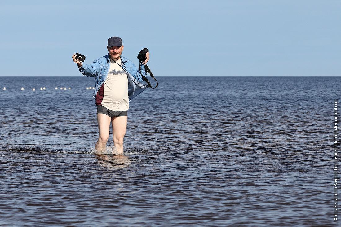 туристы теплохода Русь Великая в водах Белого моря