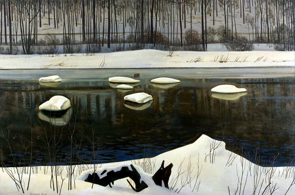 Эрмитаж: Кент, Рокуэлл - Река Сэйбл. Зима