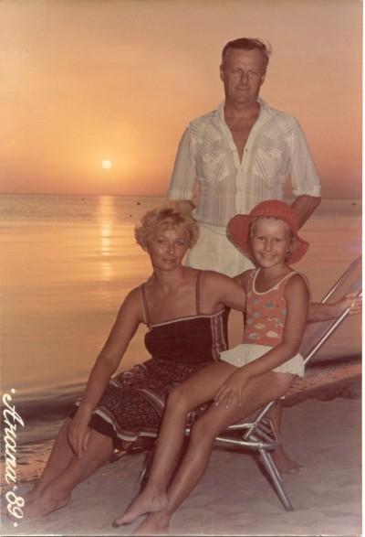 На отдыхе с семьёй. Анапа, 1989