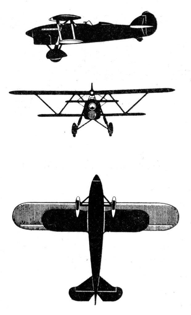 Силуэты итальянских самолетов (1939) 003