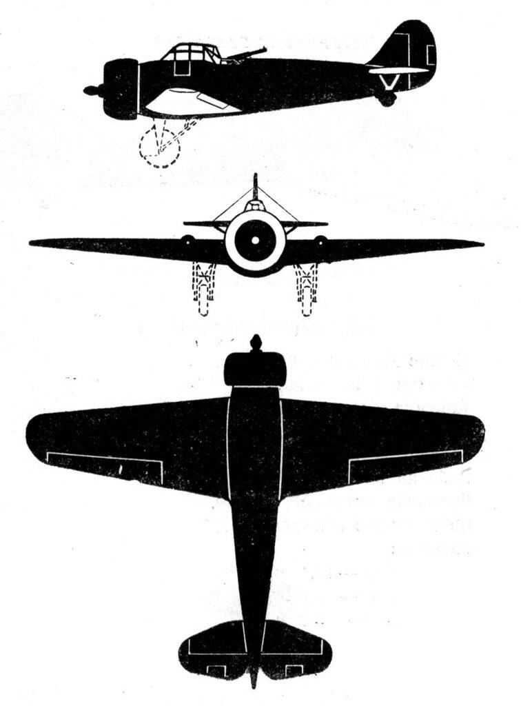 Силуэты итальянских самолетов (1939) 031