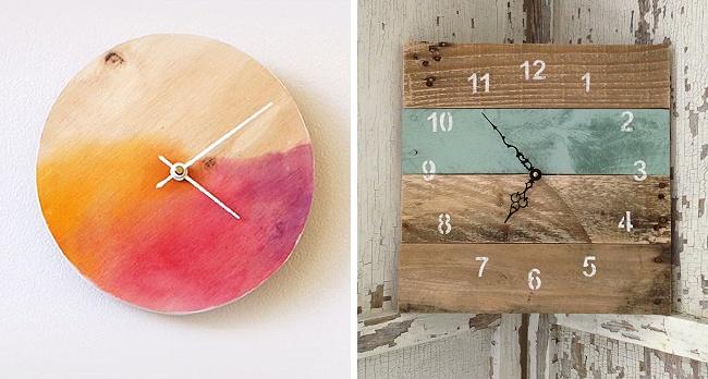 © makerssociety  © lotsofdiy  Часы , сделанные своими руками , добавят изюминку влюбую