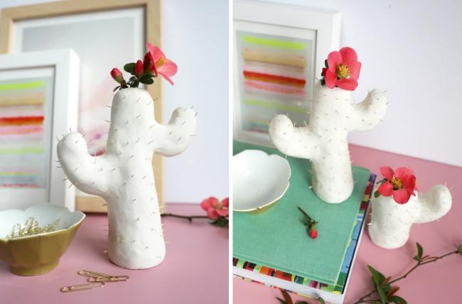 Чтобы сделать такую оригинальную вазу, воспользуйтесь подробными советами . При желании выможете че