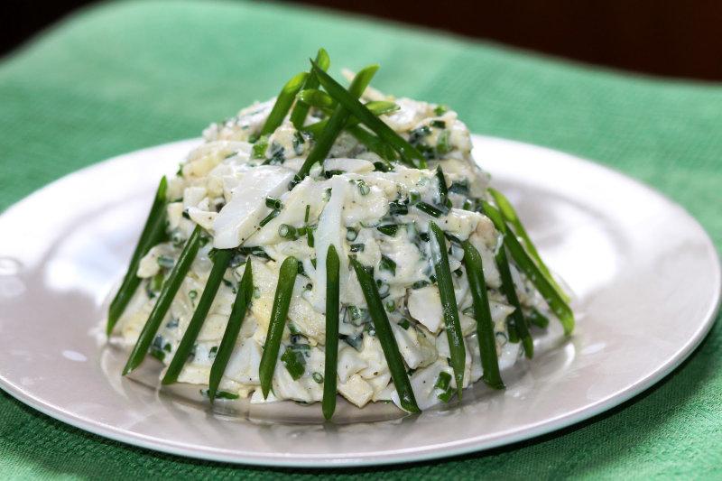 5 изумительных салатов из кальмаров (4 фото)