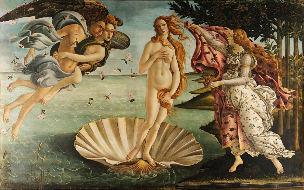 Сандро Боттичелли, «Рождение Венеры», ок.1485