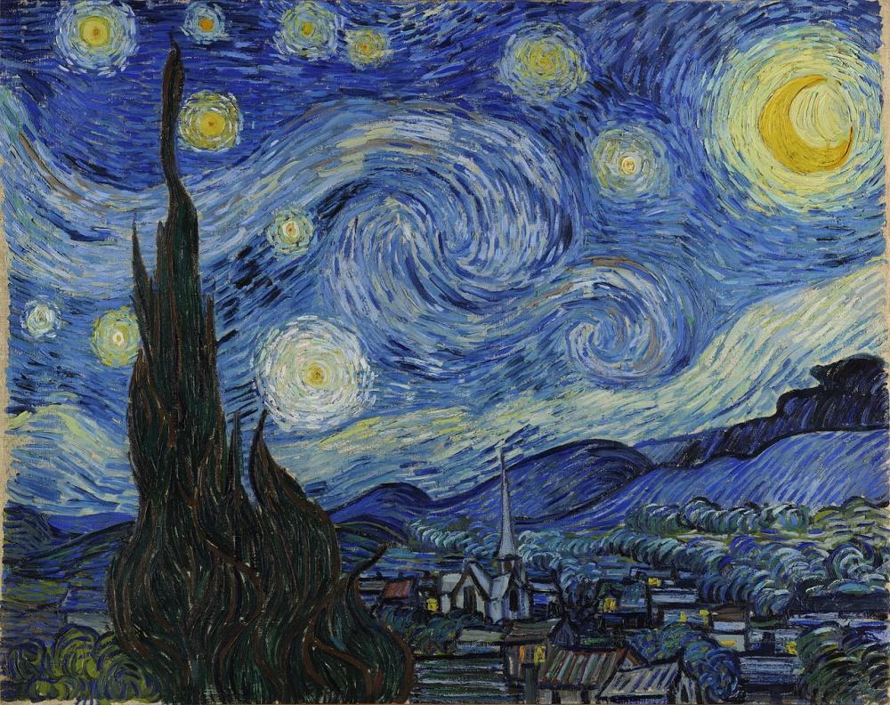 Винсент ван Гог, «Звездная ночь», 1889