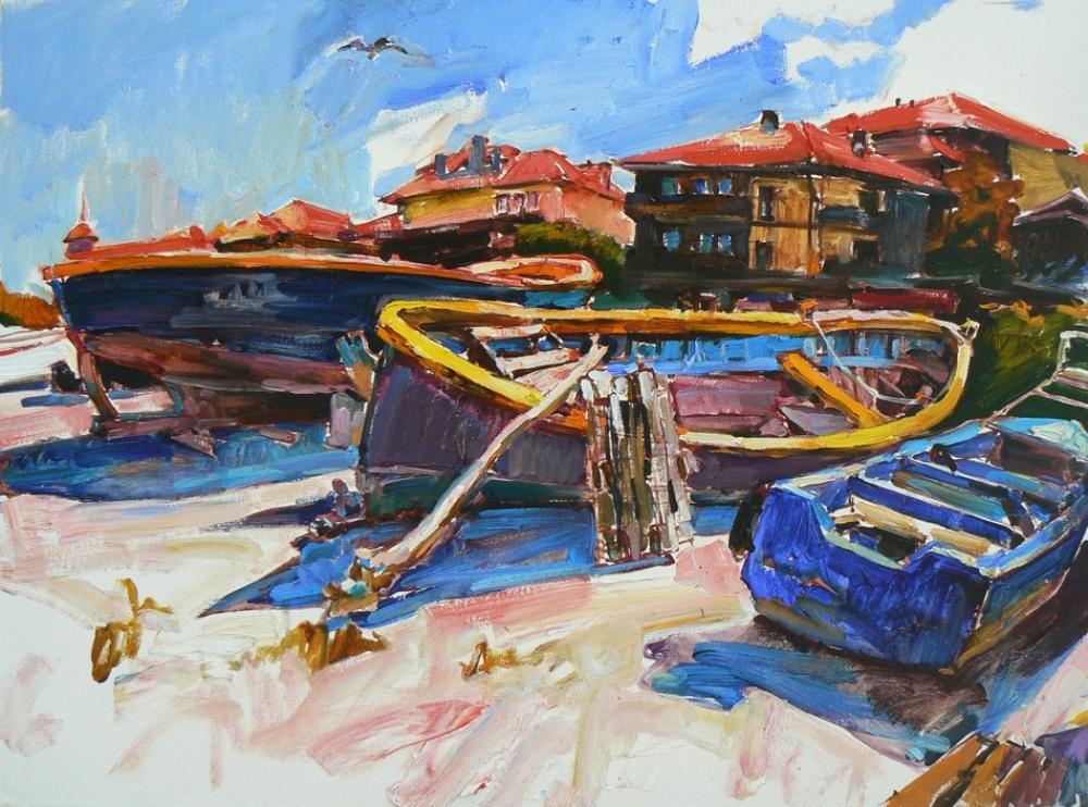 Андрей Куцаченко— художник изКиева, тамже живет иработает. Его работы отличаются смелыми цветовы
