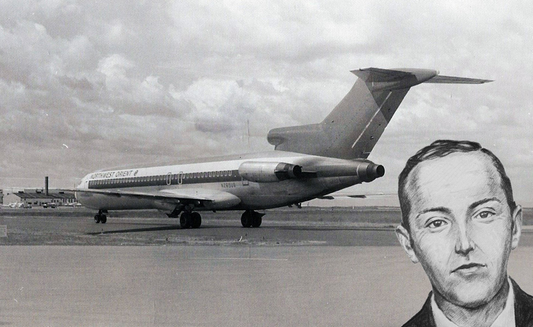 Прозвище D.B. Cooper получил неизвестный человек, умудрившийся угнать Боинг-727. Храбрый, очень спок