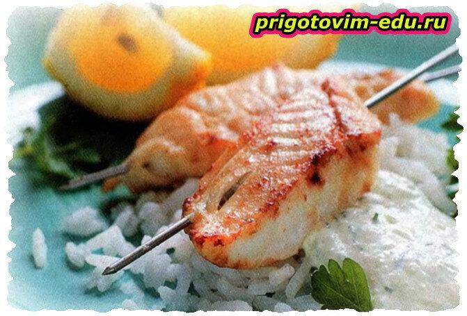 Белая морская рыба — гриль