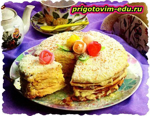 Торт уральский «Рафаэлло»