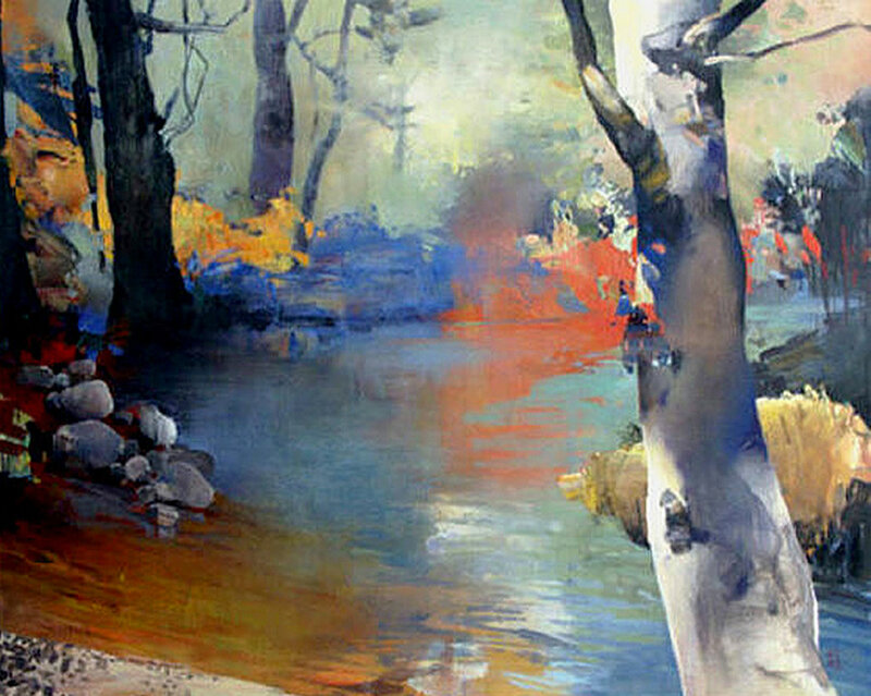 Beside the Creek oil-canvas 22x30 .jpg