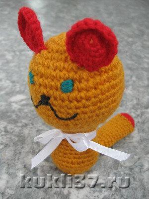 котенок, связанный крючком