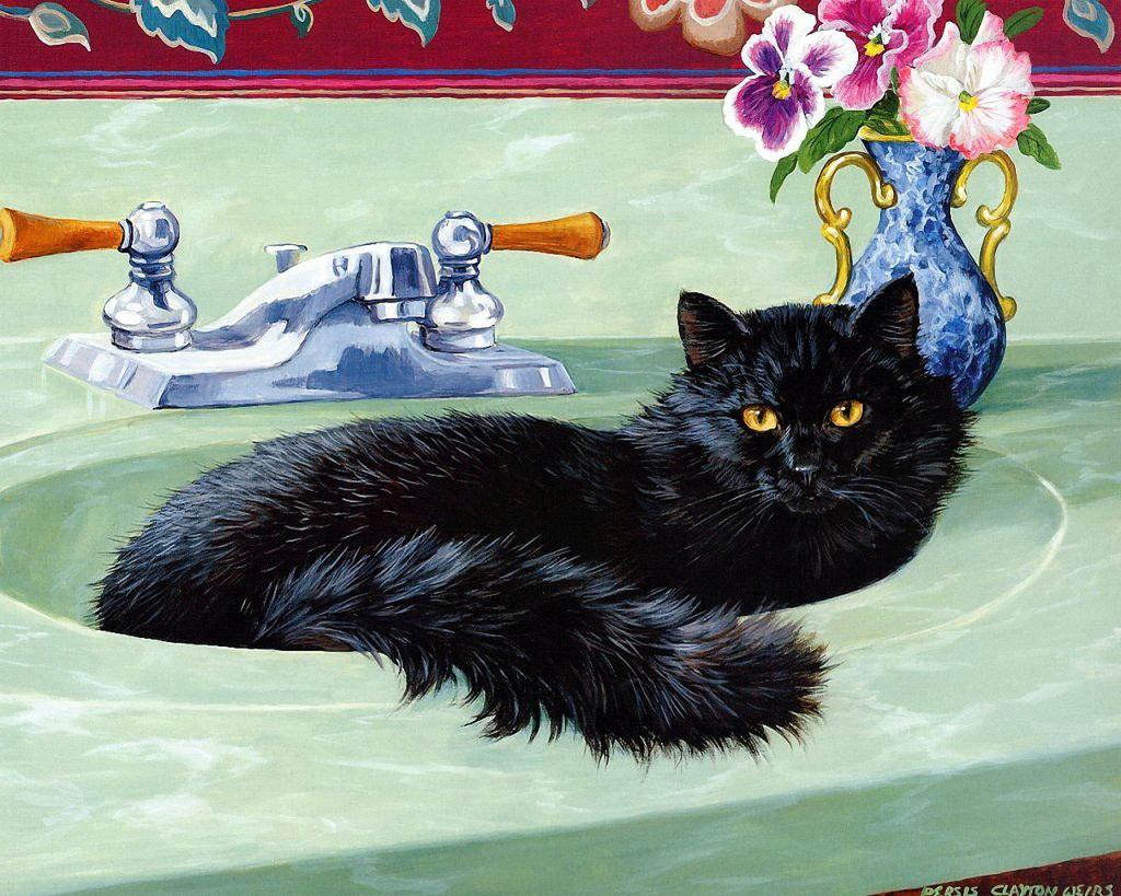 был приверженцем картинки доброе утро с черной кошкой снимает