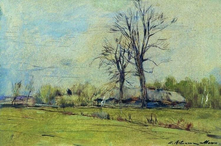 Исаак Левитан, Мелихово весной