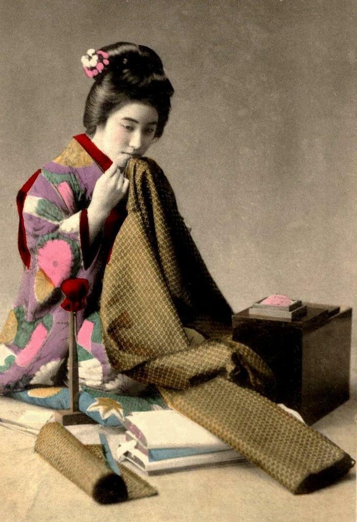 Штопка кимоно