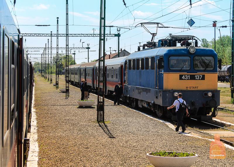 Поезд едет из Будапешта в Белград