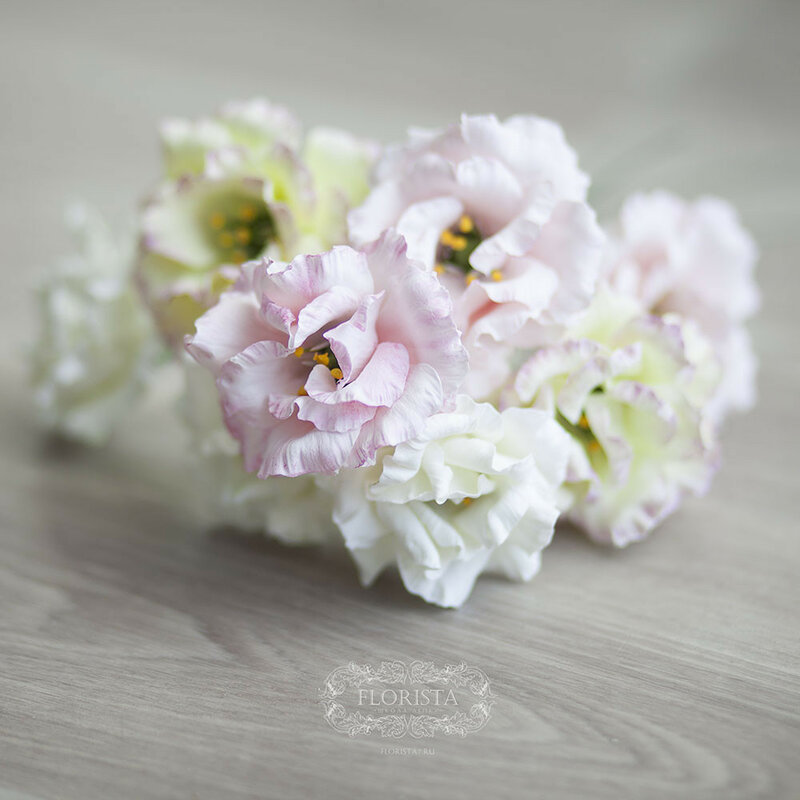 Цветы из полимерных глин