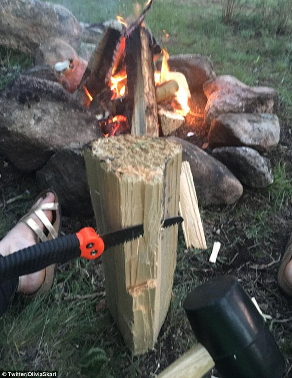 Если так нарезать дрова, далеко не уедешь.