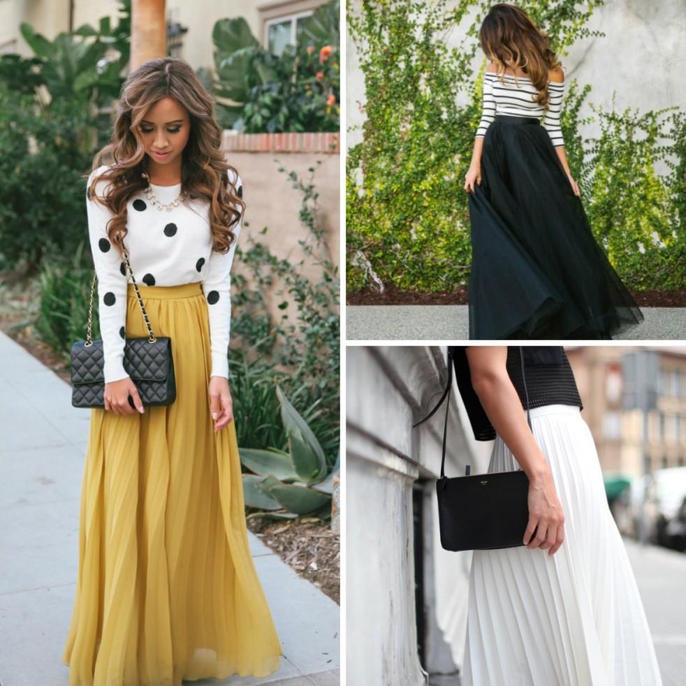 8. Длинная юбка Длинные юбки всегда были одним из самых романтичных женских нарядов. Их господство н