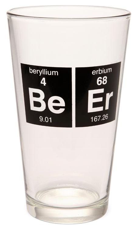Слово «пиво» написано элементами таблицы Менделеева. Напоминалка