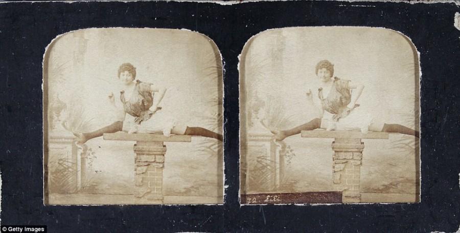 18. Танцовщица канкана Лили делает шпагат, 1890 год.