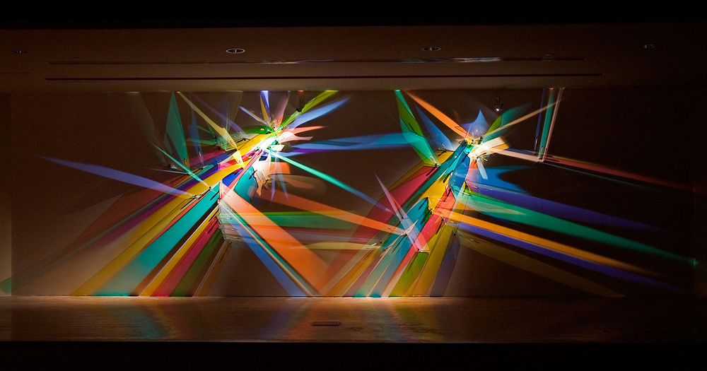 Prismatic Paintings Produced From Refracted Light by Stephen Knapp
