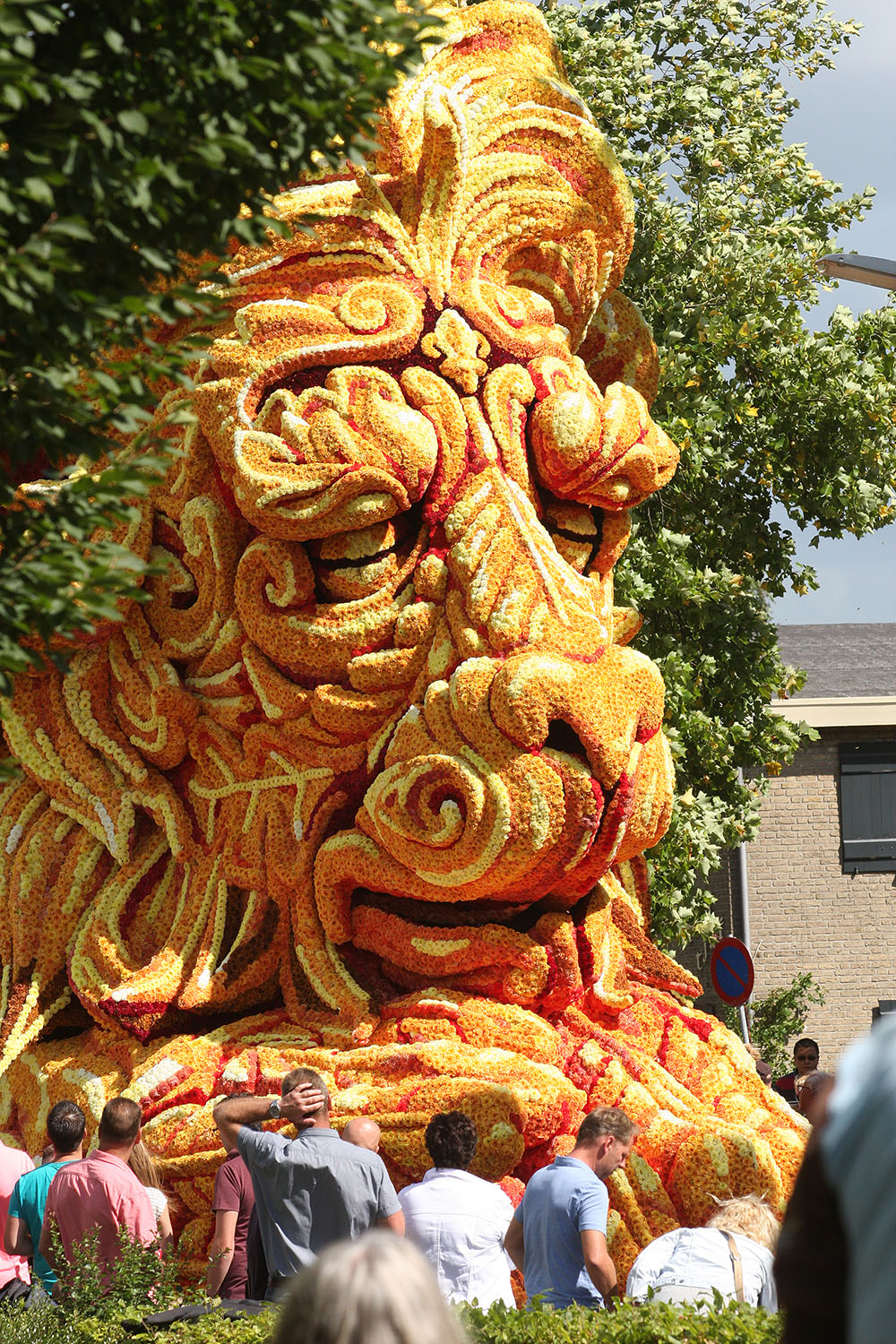 The Annual 'Corso Zundert' Flower Parade Features Radically Designed Floats Adorned with Dahlias