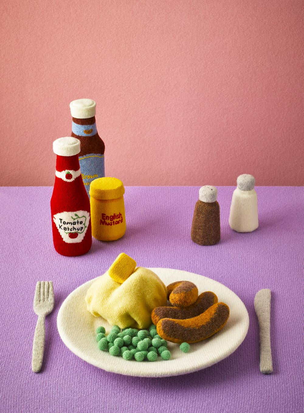Knit Wool Meals and Edibles by Jessica Dance Look Good Enough to Eat